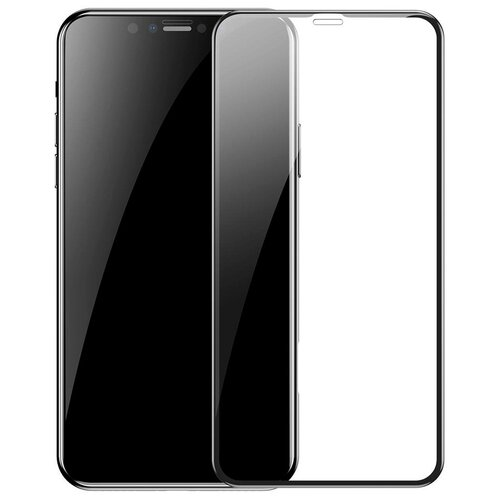 Защитное стекло для iPhone 11 Pro Max/XS Max Baseus Full Coverage Curved - Черное (SGAPIPH65-KC01)