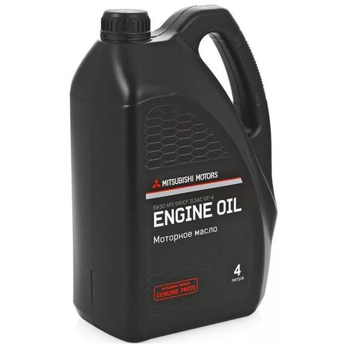 Фото - Синтетическое моторное масло Mitsubishi 5W-30 SN/CF, 4 л моторное масло mitsubishi genuine oil 5w 30 1л синтетическое [mz320756]