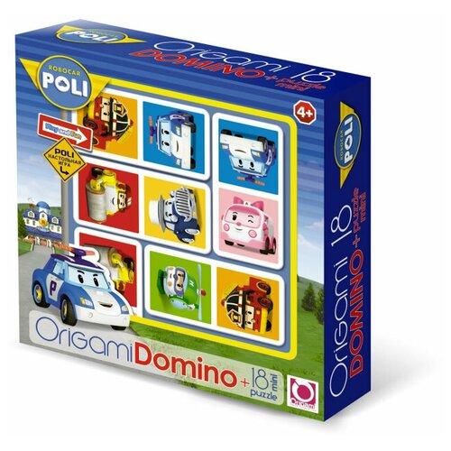 Настольная игра Origami Robocar Poli. Домино+пазл настольная игра домино пазл для малышей для девочек