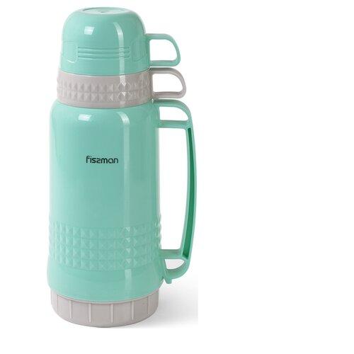 Термоc Fissman 1000 мл Аквамарин (пластиковый корпус со стеклянной колбой) (9840)
