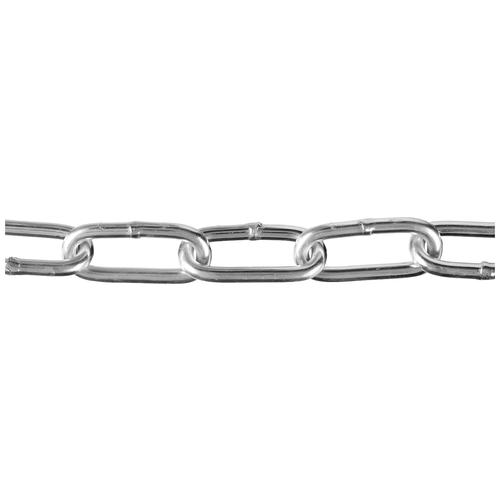 Фото - Цепь длиннозвенная, DIN 763, оцинкованная сталь, d=6мм, L=30м, ЗУБР Профессионал 4-304030-06 веревка 6мм 30м пп