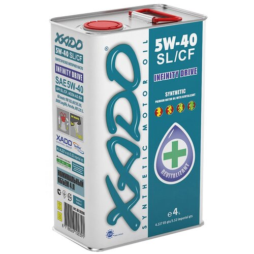 Синтетическое моторное масло XADO Atomic Oil 5W-40 SL/CF, 4 л