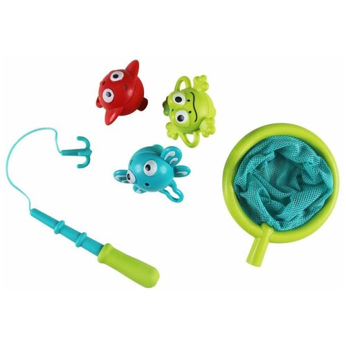 Набор для ванной Hape Double Fun Fishing Set (E0214) голубой/зеленый/красный