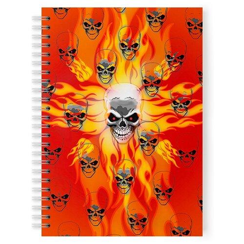 Купить Тетрадь 48 листов в клетку с рисунком Череп, Drabs, Тетради