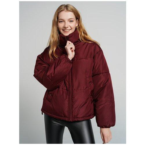 Куртка на синтепоне ТВОЕ A6566 размер M, бордовый, WOMEN