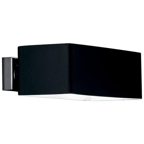Настенный светильник IDEAL LUX Box AP2 Nero, 80 Вт настенный светильник ideal lux pan ap2