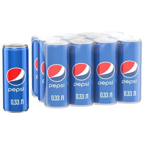 Фото - Газированный напиток Pepsi, 0.33 л, 12 шт. pepsi напиток низкокалорийный вкус манго 0 5 л pepsi