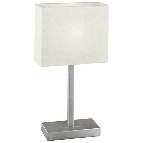 Лампа декоративная Eglo Pueblo 1 87598, E14, 60 Вт, цвет арматуры: серебристый, цвет плафона/абажура: белый