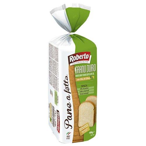 Roberto Хлеб Pane a fette al Grano duro пшеничный тостовый в нарезке, 400 г