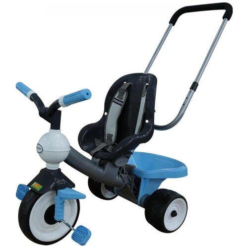 Трехколесный велосипед Coloma Y Pastor Амиго 2 46437, черный/голубой