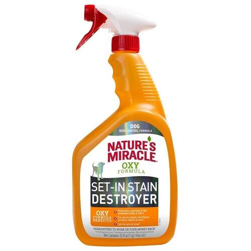 Nature's Miracle Уничтожитель пятен и запахов, для собак, с окси-формулой, 946 мл (спрей)