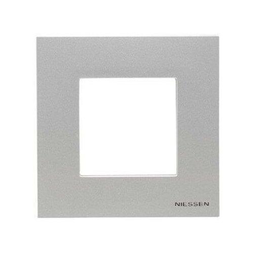 Рамка 1-постовая ABB Zenit серебро 2CLA227100N1301 рамка abb 4 постовая zenit антрацит