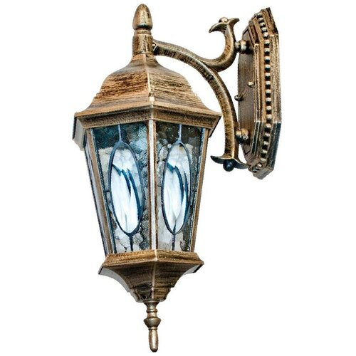 Feron Садово-парковый светильник PL161 11328, E27, 60 Вт, цвет арматуры: золотой, цвет плафона бесцветный