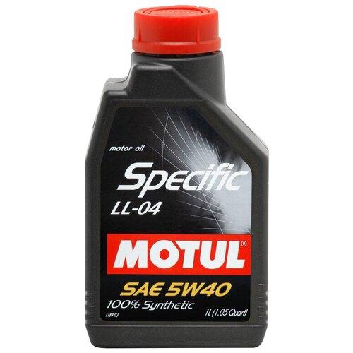 Синтетическое моторное масло Motul Specific LL-04 5W40, 1 л