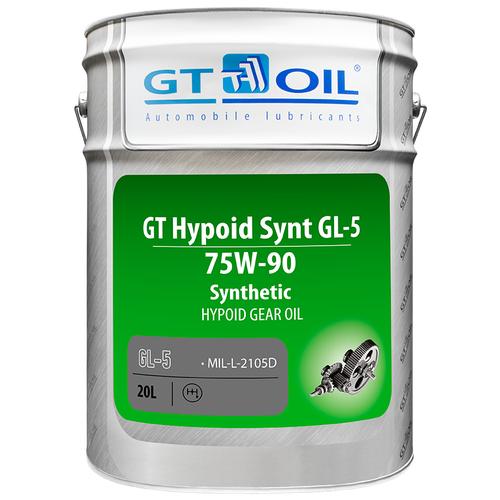 Масло трансмиссионное GT OIL HYPOID GL-5 75W-90, 75W-90, 20 л масло трансмиссионное motul motylgear 75w 90 75w 90 20 л