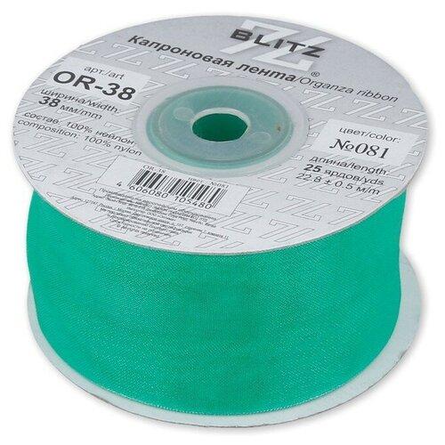Фото - Лента капроновая BLITZ 38 мм, 22,8+-0,5 м, №081, изумрудная (OR-38) ленты blitz or 25 blitz лента капроновая 25 мм 089 голубой