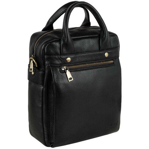 Мужская кожаная сумка 20168 черный сумка polar polar po001bwfyur2
