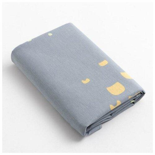 Купить Пеленка Крошка Я Light gray, 70*120 см, бязь, хлопок 100% 6622371, Пеленки, клеенки