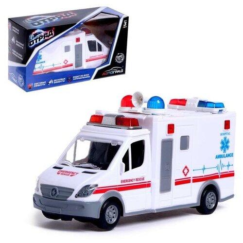 Фото - Автоград Машина Скорая помощь, работает от батареек, свет и звук, SL-04692C 5187453 автоград машина металлическая полицейский джип инерц свет и звук масштаб 1 43 sl 2493e 1740075