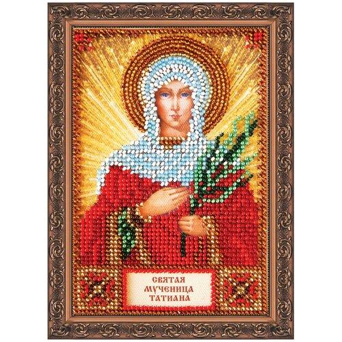 ABRIS ART Набор для вышивания бисером Святая Татьяна 10 х 15 см (ААМ-004)