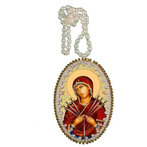 Купить Набор для вышивания NOVA STITCH Богородица Семистрельная 6, 6х4, 6 см, NOVA SLOBODA, Наборы для вышивания