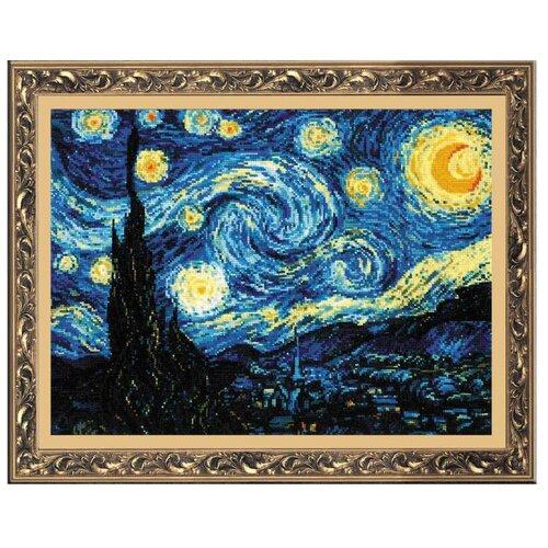 Купить Риолис Набор для вышивания крестом Звёздная ночь (по мотивам картины В. Ван Гога) 40 х 30 см (1088), Наборы для вышивания