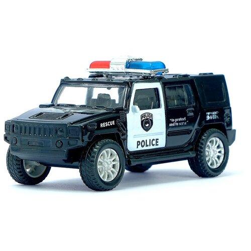 Фото - Машинка Автоград Полицейский джип, инерционная, масштаб 1:44, 3232593 автоград машина металлическая полицейский джип инерц свет и звук масштаб 1 43 sl 2493e 1740075