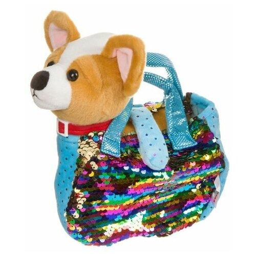 Собачка в сумке с пайеткиами, Bondibon