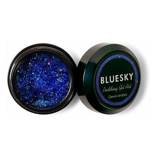 Фото - BLUESKY Bluesky, Pudding Gel ART - полигель с шиммером (Синий сапфир), 8 гр акригель bluesky pudding gel для моделирования 60 мл прозрачный