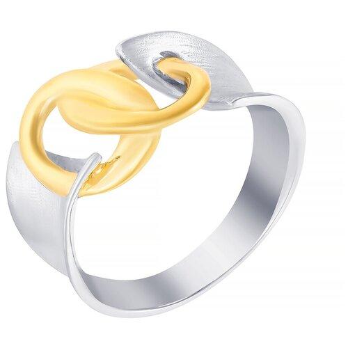 ELEMENT47 Широкое ювелирное кольцо из серебра 925 пробы ROB89836_KO_WJ, размер 17