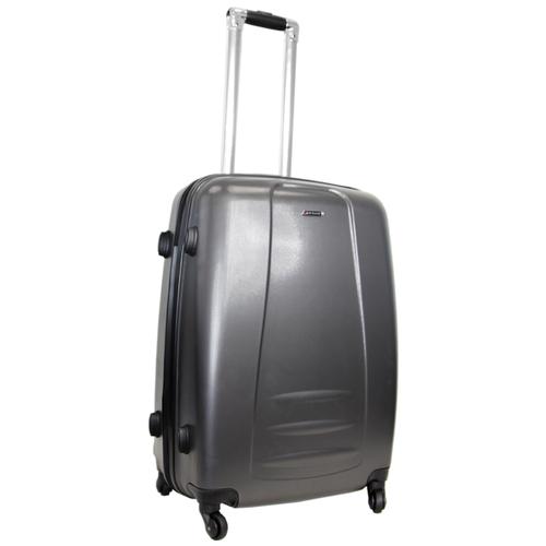 Чемодан Rion+, 418 тёмно-серый 24 чемодан rion 418 3 62 л голубой