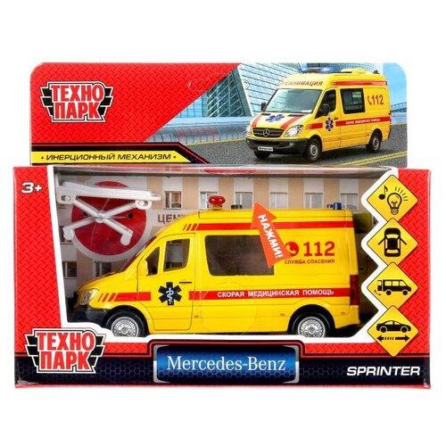 Модель SPRINTERVAN-14SLAMB-YE MERCEDES-BENZ SPRINTER Реанимация в коробке Технопарк микроавтобус технопарк mercedes benz sprinter реанимация sprinter 22pl rean 22 см желтый