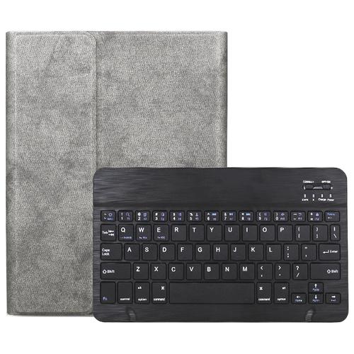 Клавиатура MyPads для Huawei MediaPad M6 8.4 съемная беспроводная Bluetooth в комплекте c кожаным чехлом и пластиковыми наклейками с русскими буквами