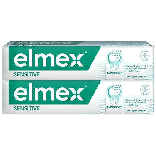 Зубная паста Elmex ELMEX Сенситив Плюс для чувствительных зубов, 75 мл, 2 шт. r o c s паста lapikka зубная сенситив для чувствительных зубов 94г