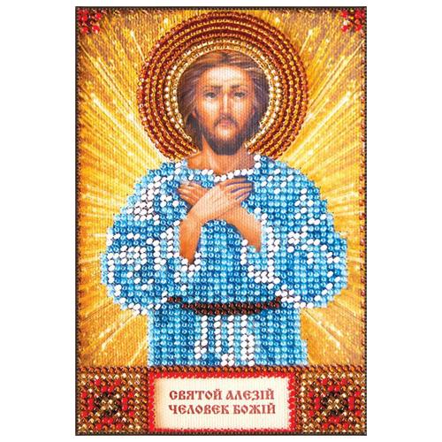 ABRIS ART Набор для вышивания бисером Святой Алексей 10 х 15 см (ААМ-003)