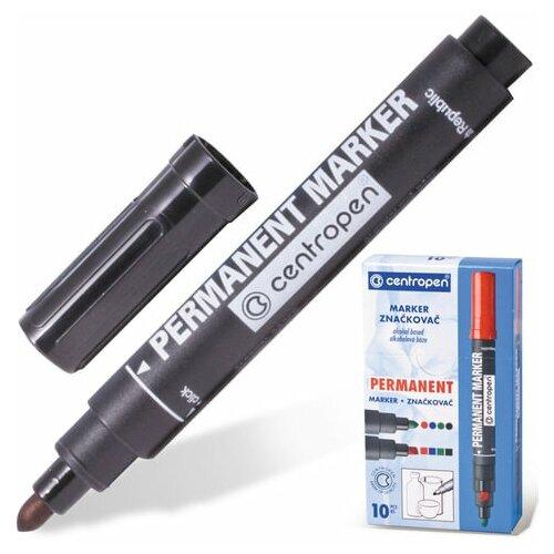 Купить Маркер перманентный CENTROPEN 8566, черный, круглый наконечник, 2, 5 мм, 5 8566 0112, 5 шт., Маркеры