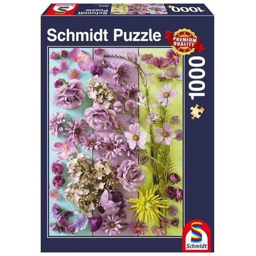 Пазл Schmidt Фиолетовые цветы (58944), 1000 дет.