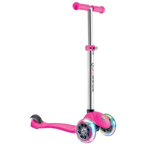 Фото - Детский кикборд GLOBBER Primo Lights, розовый детский кикборд globber elite deluxe lights голубой