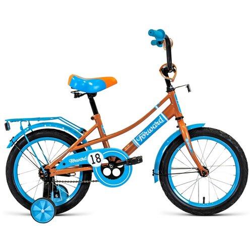 Детский велосипед FORWARD Azure 18 (2020) бежевый/голубой (требует финальной сборки) детский велосипед forward nitro 18 2020 оранжевый белый требует финальной сборки