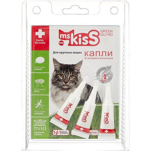 Ms.Kiss капли от блох и клещей Green Guard для кошек и котят от 2 кг