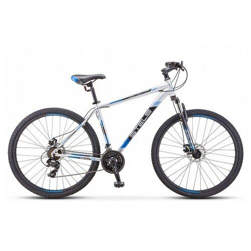 велосипед stels navigator 900 d 29 f010 21 серебристый синий Горный (MTB) велосипед STELS Navigator 900 MD 29 F010 (2019) серебристый/синий 17.5 (требует финальной сборки)
