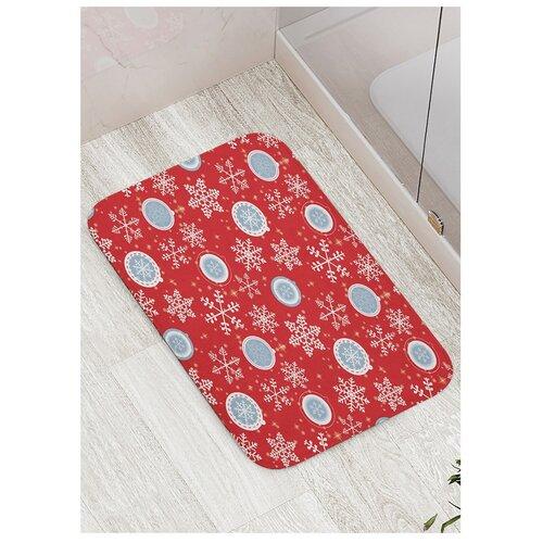 коврик противоскользящий joyarty композиция на песке для ванной сауны бассейна 75х45 см Коврик противоскользящий Праздничный воздух для ванной, сауны, бассейна, 77х52 см
