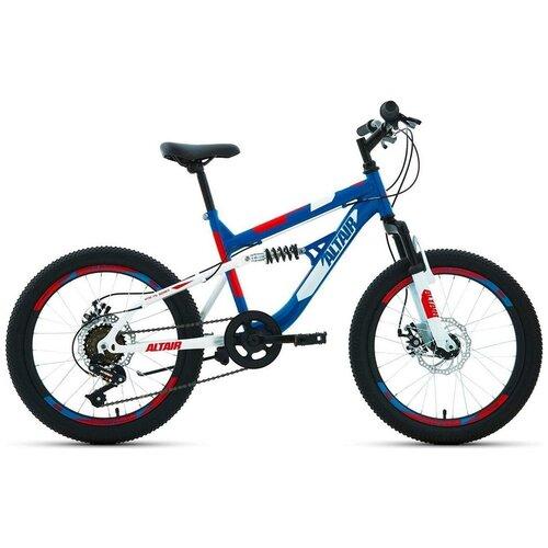 Подростковый горный (MTB) велосипед ALTAIR MTB FS 20 Disc (2020) синий 13 (требует финальной сборки)