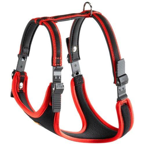 Фото - Шлейка Ferplast Ergocomfort P L, обхват шеи 50-60 см, красный шлейка для собак ferplast ergocomfort p l синяя