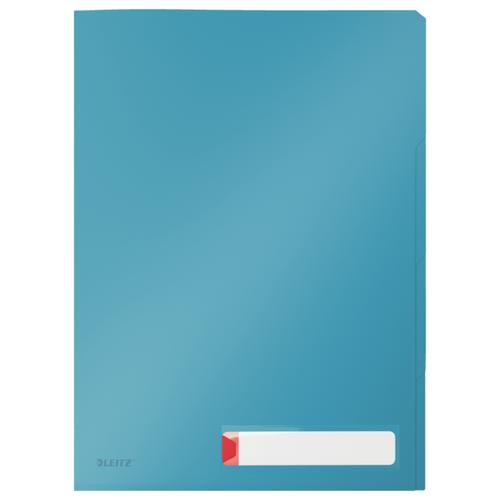 Папка-уголок с разделителями Leitz Cosy, 3 шт. в уп., синий папка уголок leitz с расширением на 20см 200 мк прозрачная цена за штуку 40563003