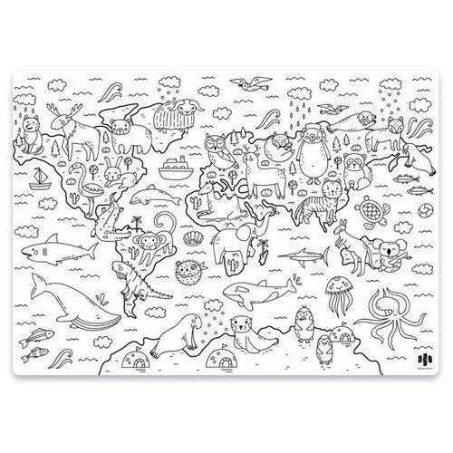 Феникс+ Раскраска многоразовая Мир животных