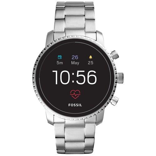 Умные часы FOSSIL Gen 4 Smartwatch Explorist HR (stainless steel), silver