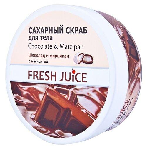 Fresh Juice Сахарный скраб для тела Chocolate and Marzipan, 225 мл