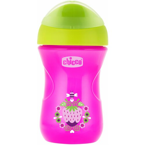 Фото - Поильник Chicco Easy Cup, 266 мл розовый/зеленый тарелка chicco easy feeding 6м розовый