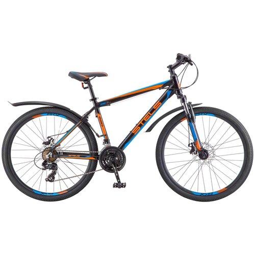 велосипед stels navigator 620 md 26 v010 19 тёмно синий Горный (MTB) велосипед STELS Navigator 620 MD 26 V010 (2019) черный/синий/оранжевый 19 (требует финальной сборки)
